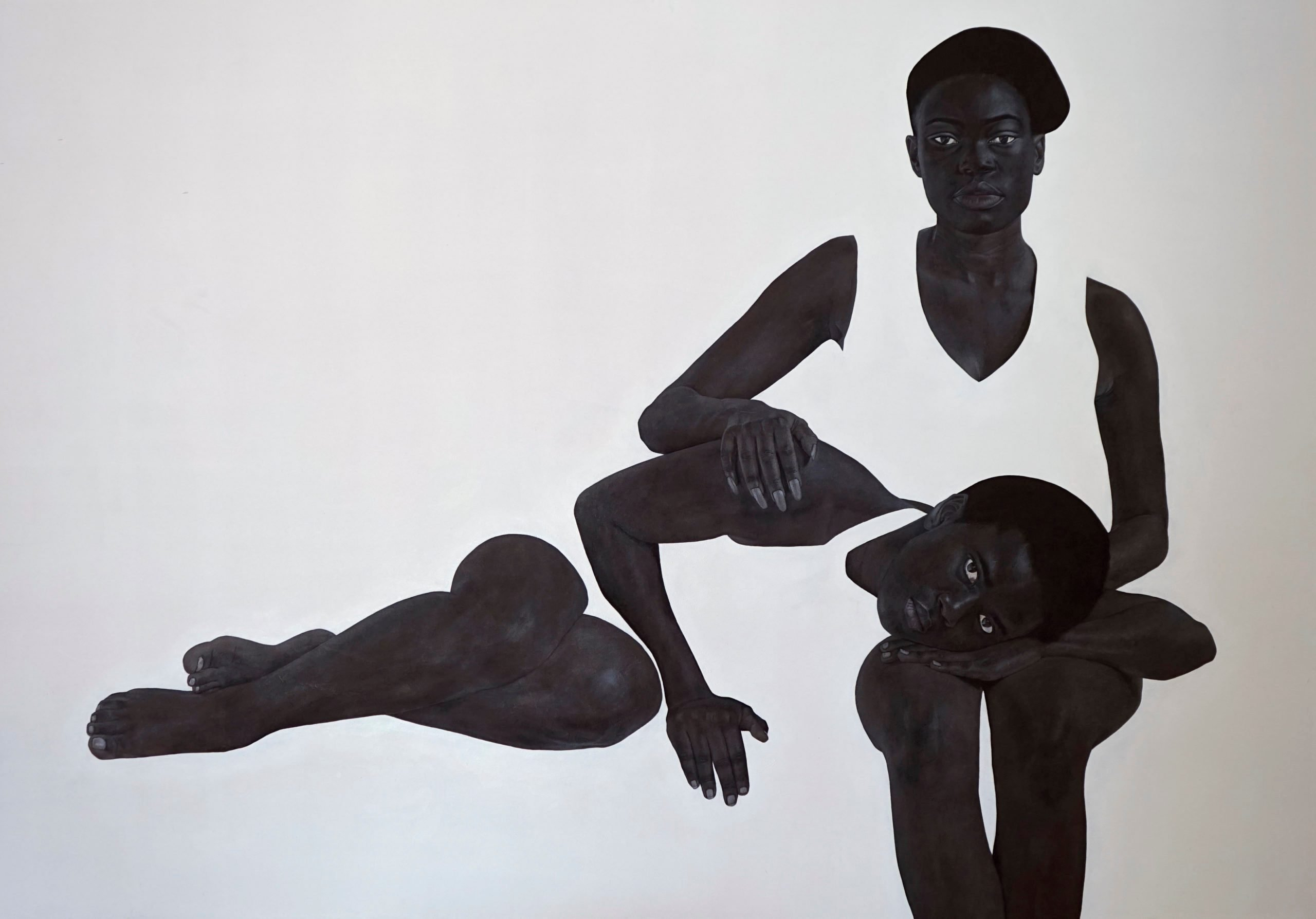 Sungi Mlengeya, Unclench, 2020, Acrylic on canvas, 140x200cm