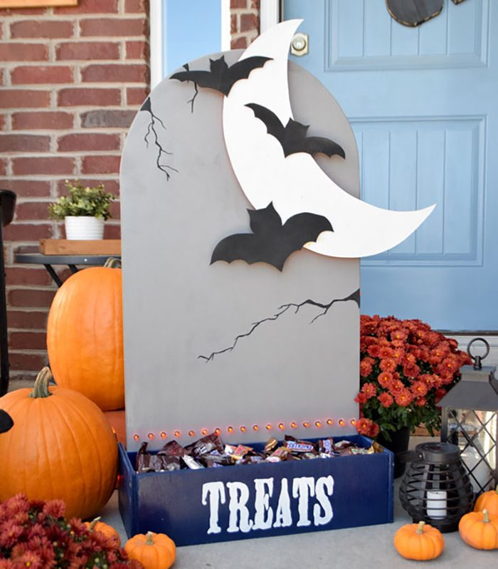 Tombstone Halloween Candy Holder