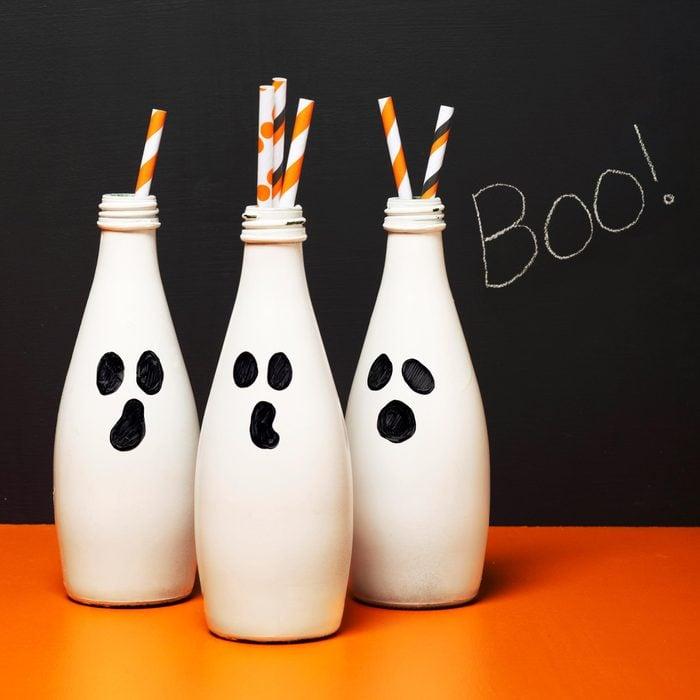 boo bottles halloween craft