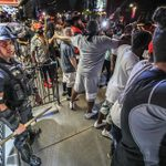 Why Demonstrators Ended Up Protecting the Cops They Were Protesting