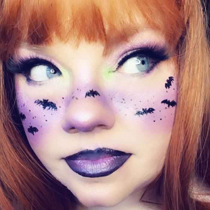 Bat Queen Halloween Makeup