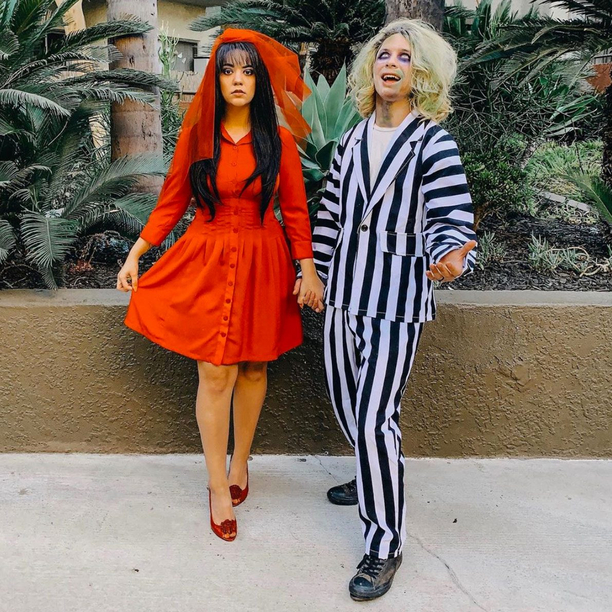 Beetlejuice and Lydia Deetz couples halloween costume