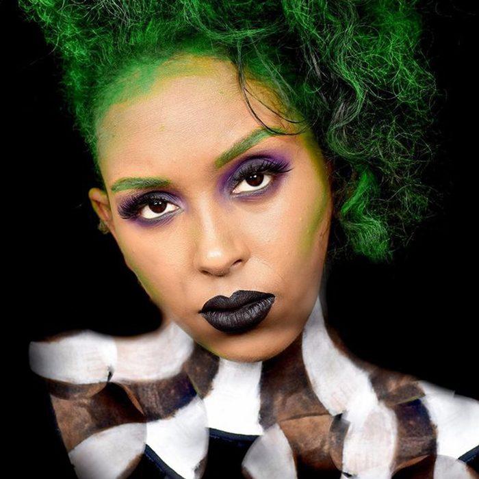 Bettlejuice Halloween Makeup