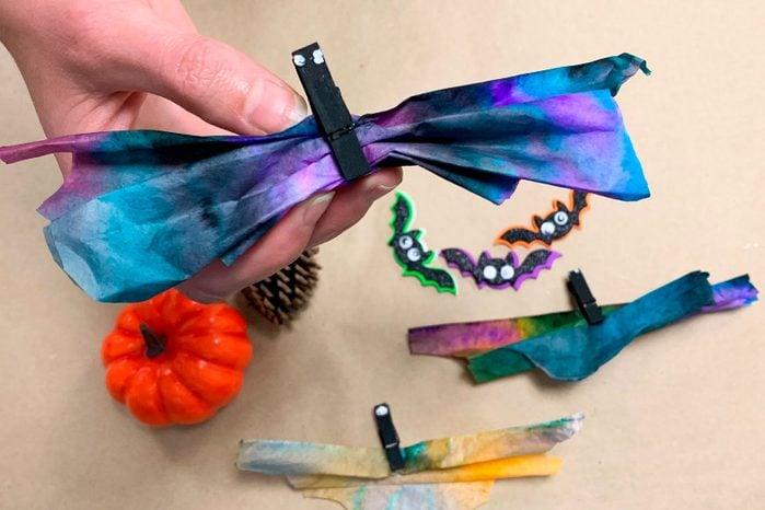 Coffee Filter Bats Halloween Kids Craft