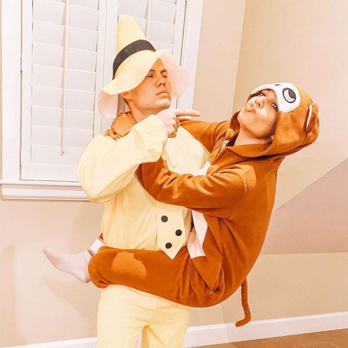 curious george couples halloween costume
