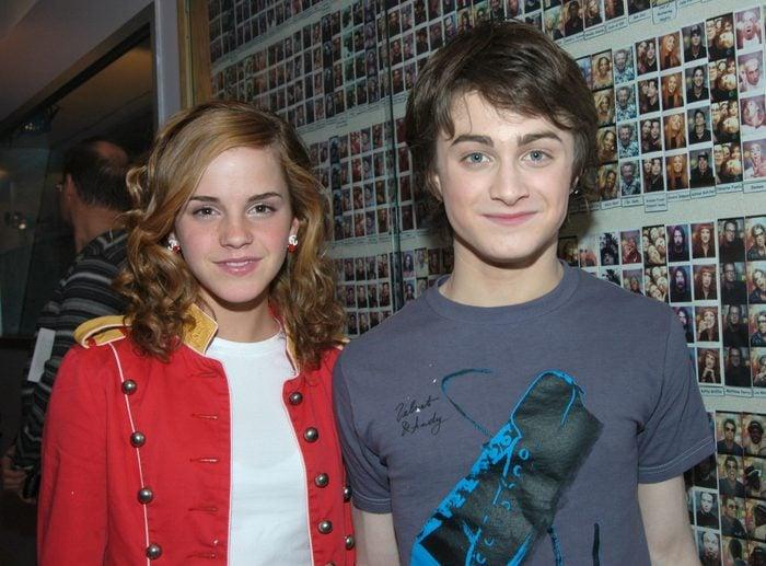 "Daniel Radcliffe and Emma Watson Visit MTV'S ""TRL"" - May 24, 2004"