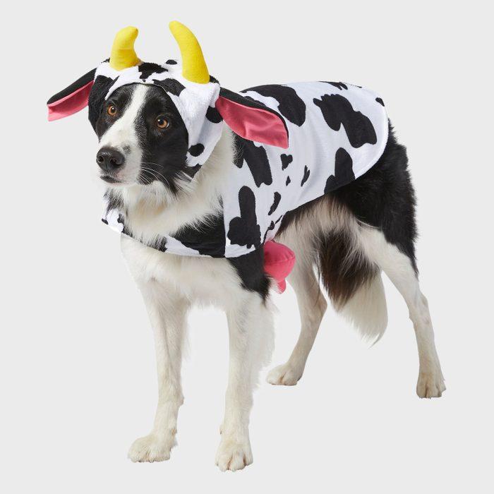 Happy cow dog costume