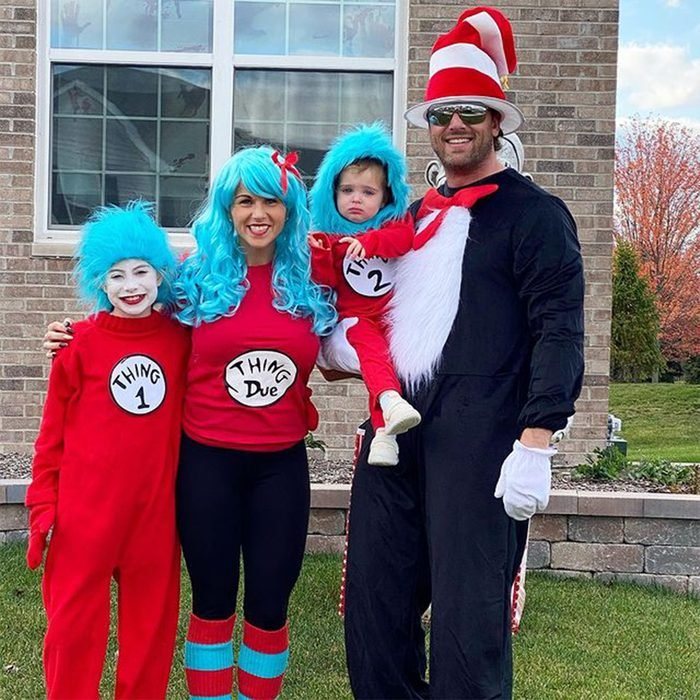Dr Seuss Thing 1 Thing 2 Family Costume