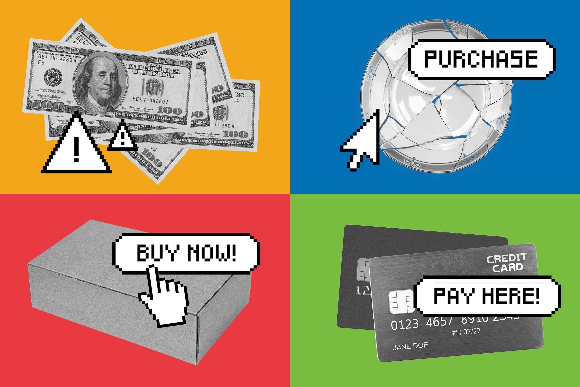 Collage of ebay goods