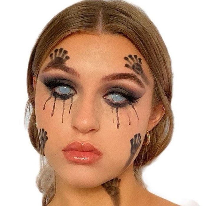 Footprints Halloween Makeup
