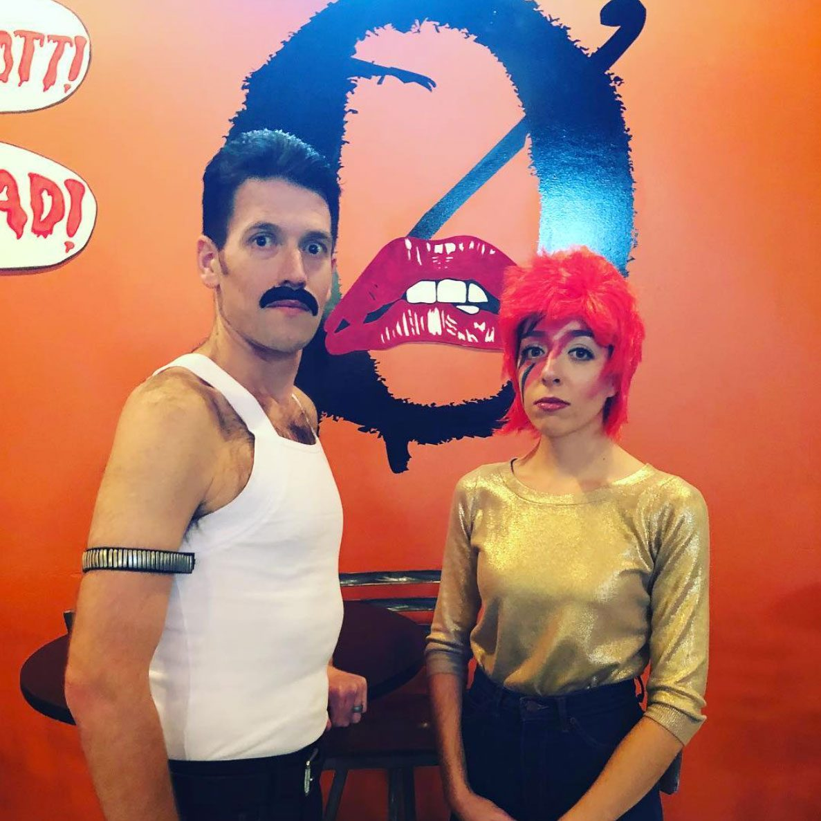 freddie mercury and david bowie couples halloween costume