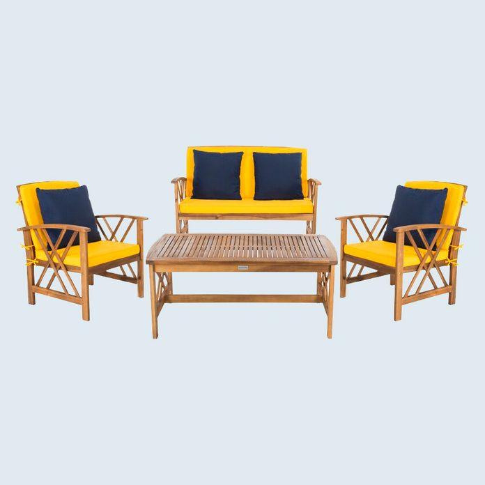 Delorenzo 4 Piece Sofa Set