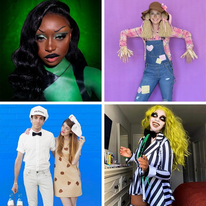 collage of halloween costumes