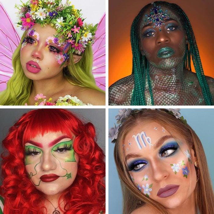 Halloween Makeup Looks Grid Collage