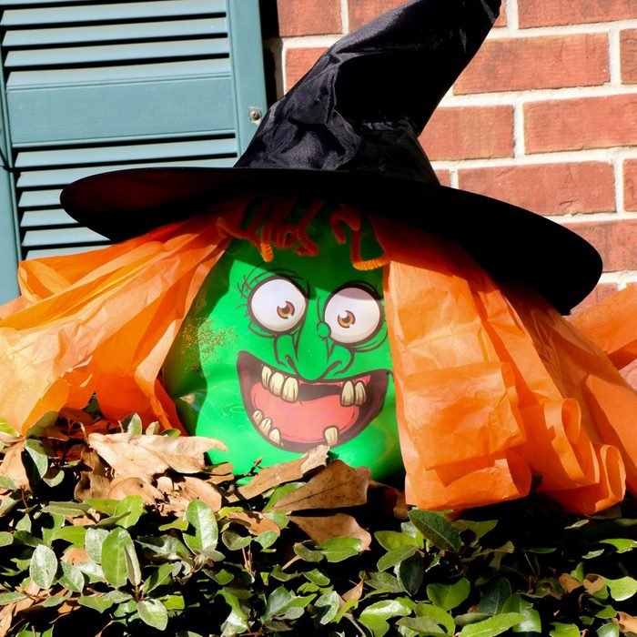 Halloween Witch From Upcycled Gain Container Via Ourwabisabilife