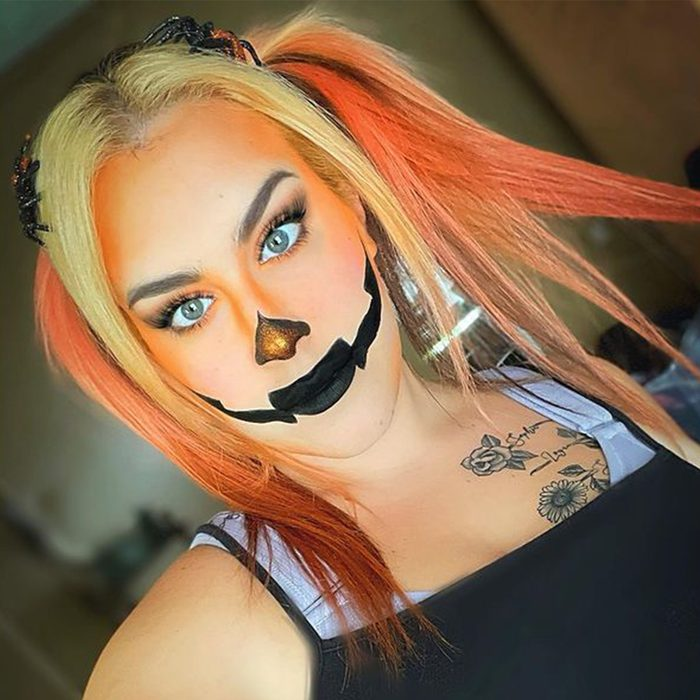 Jack O Lantern Halloween Makeup