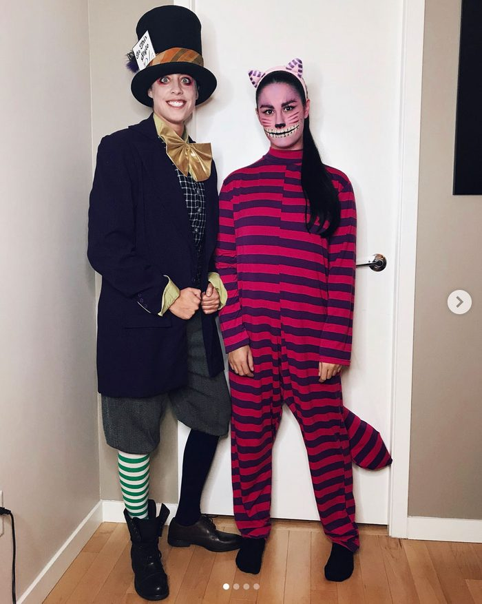 mad hatter cheshire cat couples halloween costume