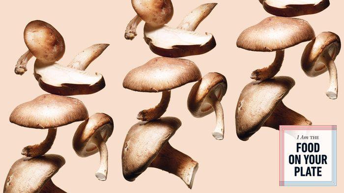 food on your plate - mushrooms. mushrooms on beige background