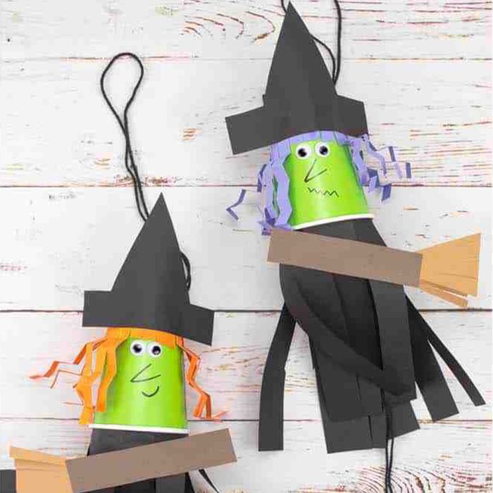 Paper Flying Witches Via Kidscraftroom