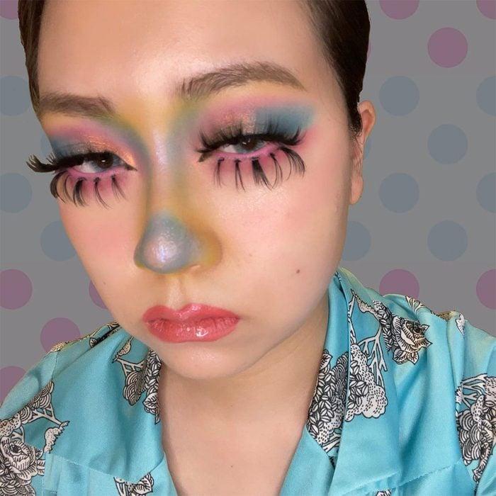 Pastel Clown Halloween Makeup