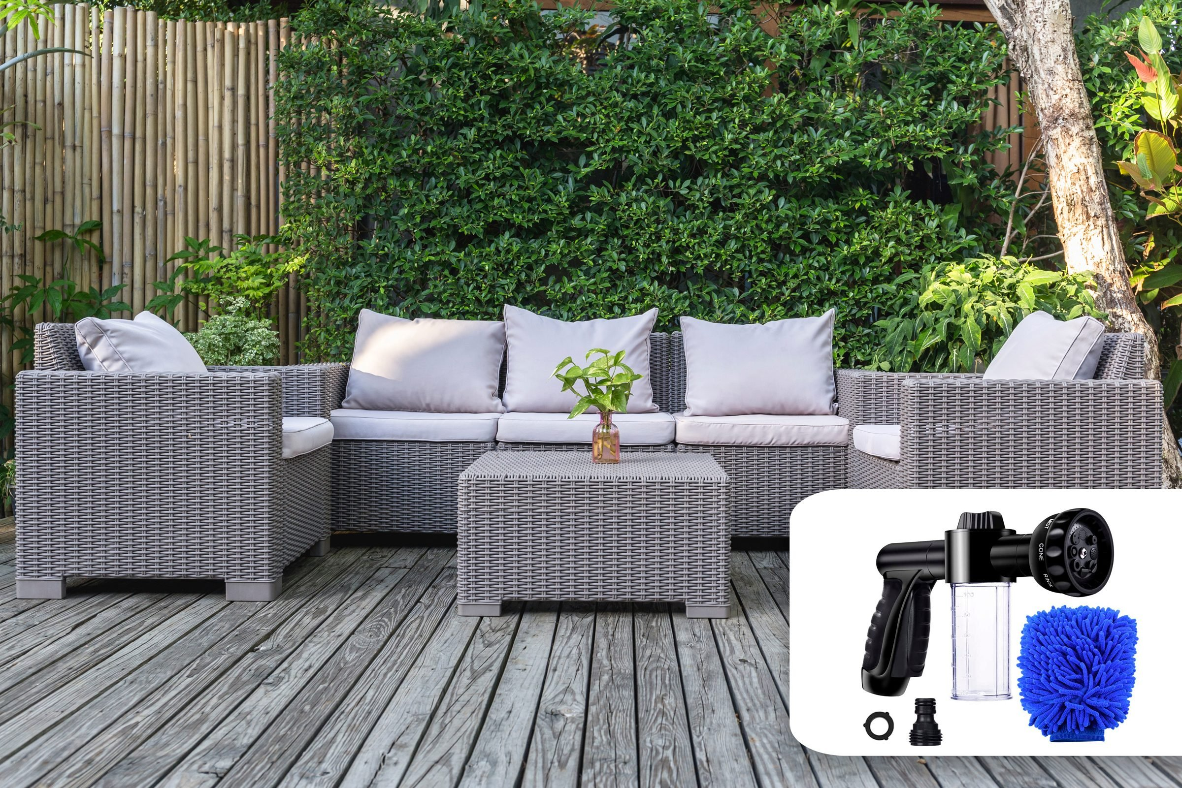 patio furniture fall cleaning