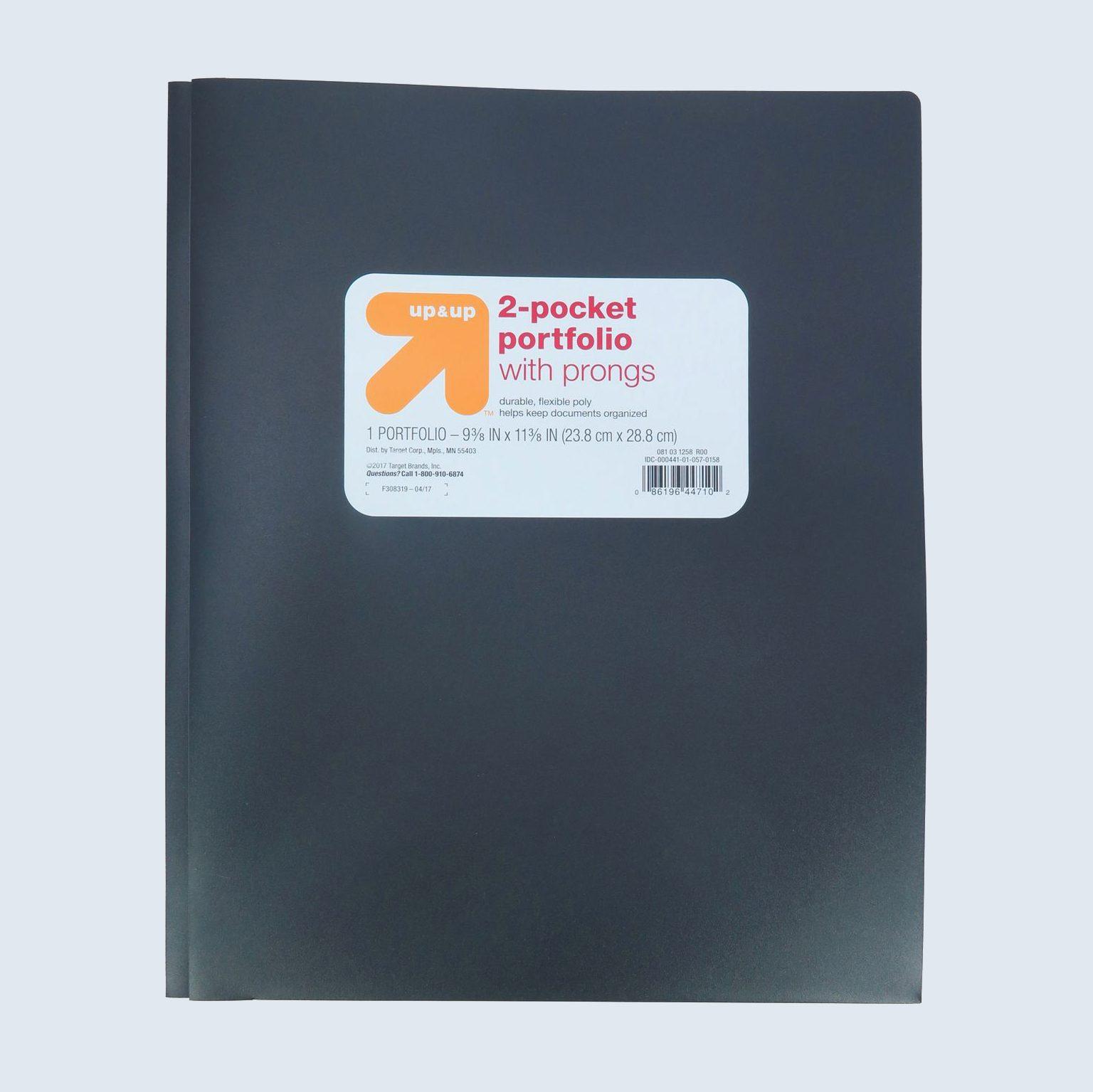 School supplies portfolio folder