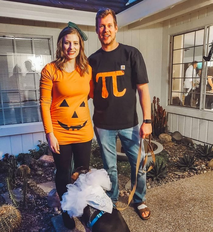 pumpking pie and cool whip couple halloween costume