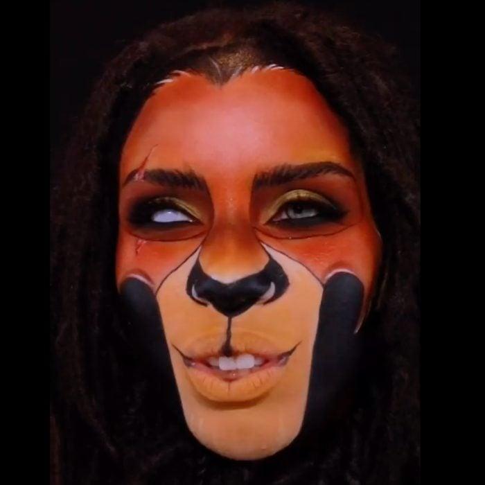 Scar Lion King Face Paint