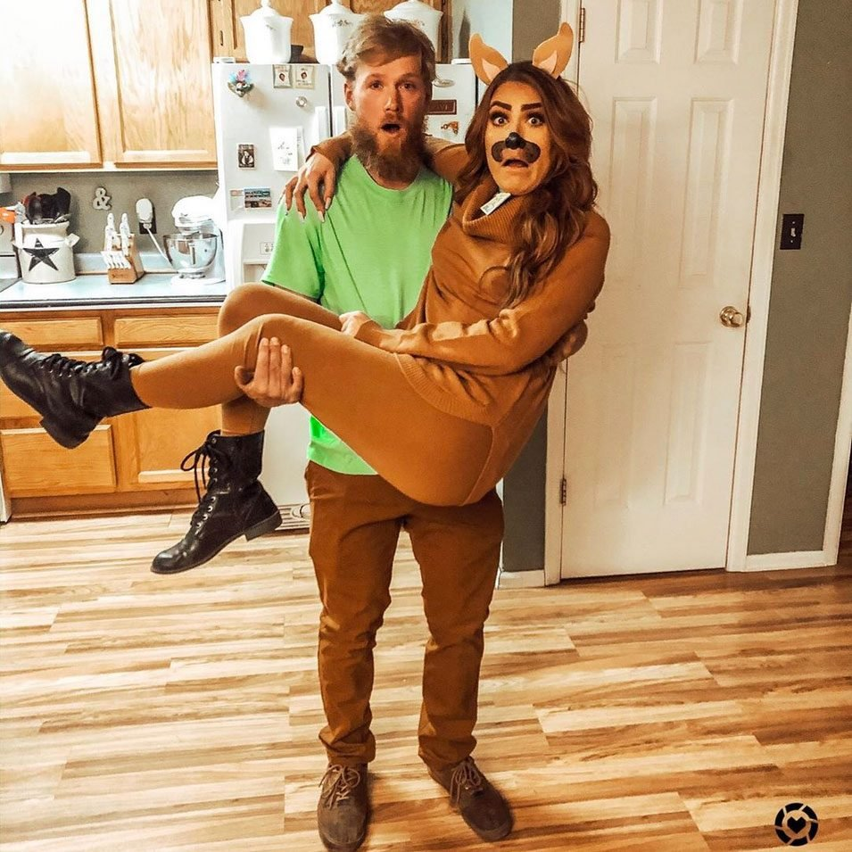 shaggy and scooby couples halloween costume