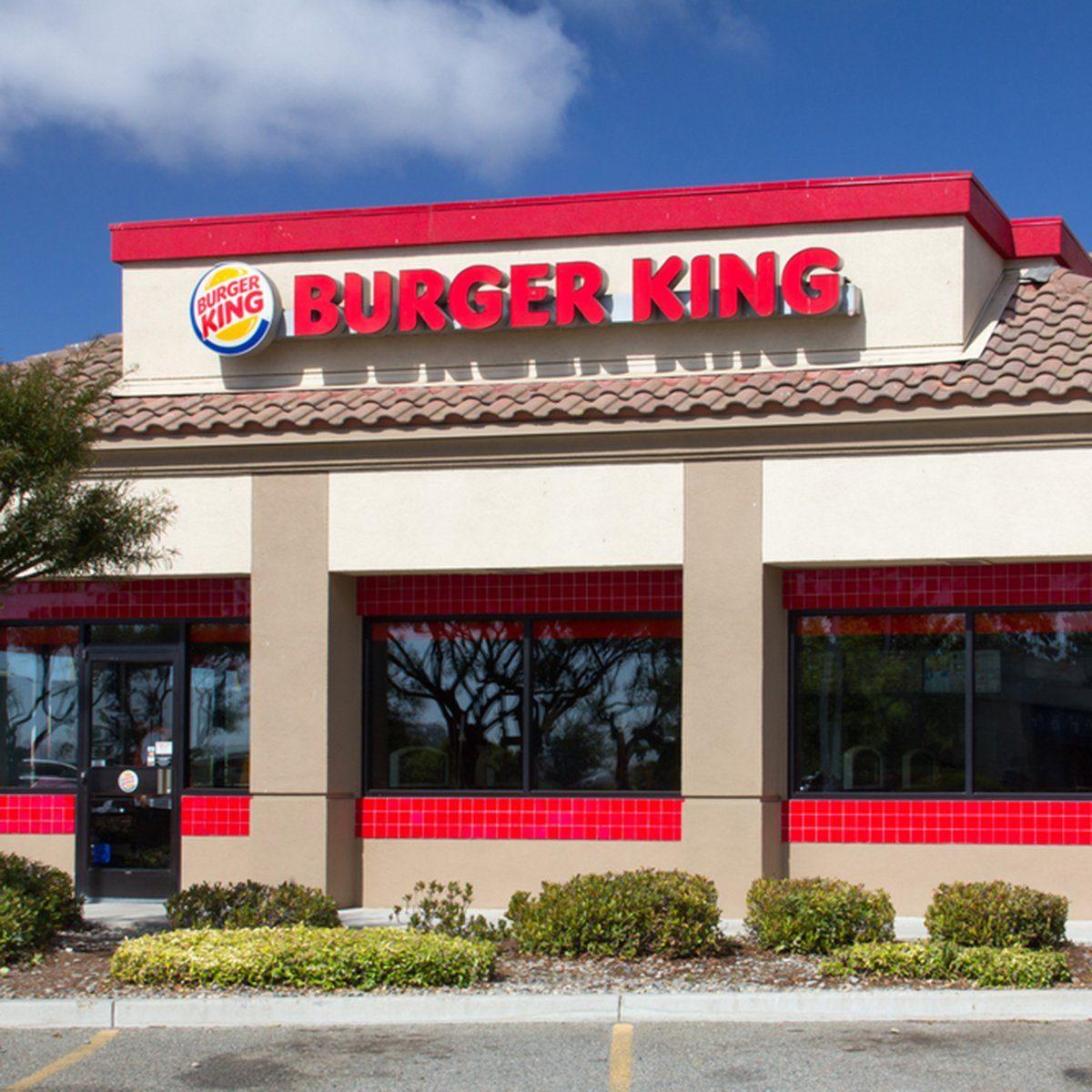 Burger King restaurant exterior.