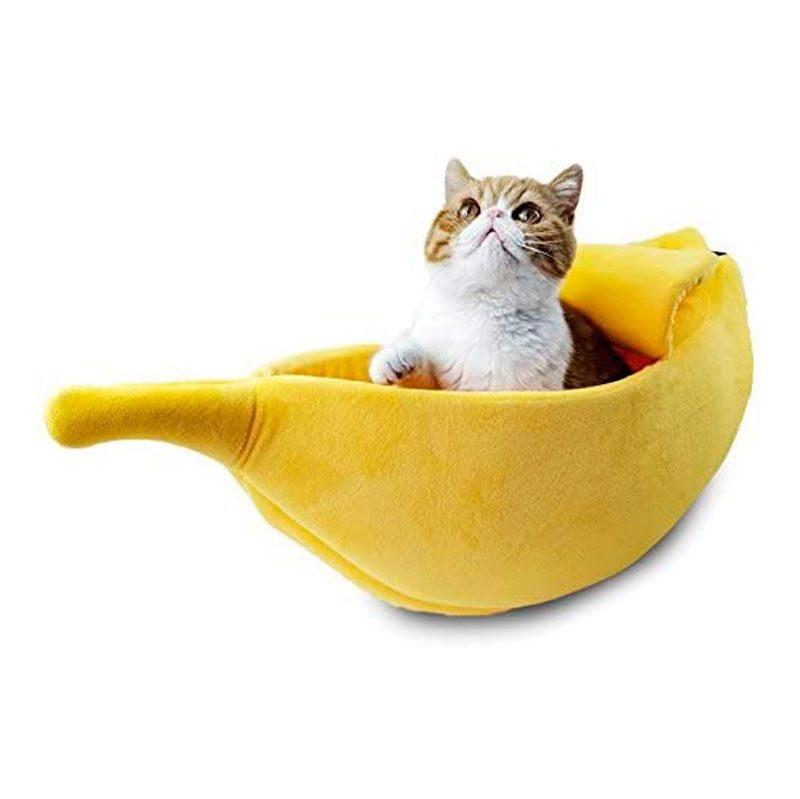 silly banana cat bed
