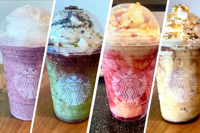 HOGWARTS HOUSE FRAPPUCCINOS FROM STARBUCKS