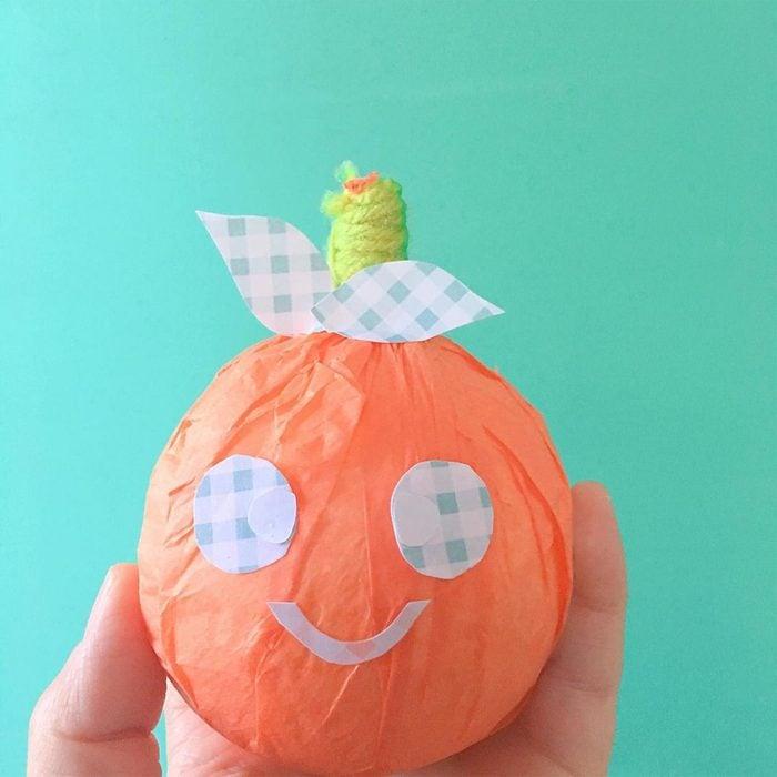 Tissue Paper Pumpkins Via Missbipps