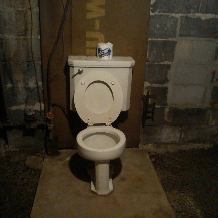 toilet in basement