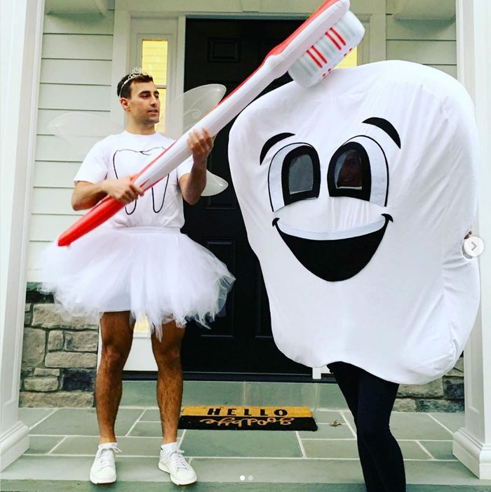 tooth fairy and tooth couples halloween costume