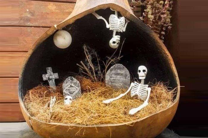 Fairy graveyard centerpiece