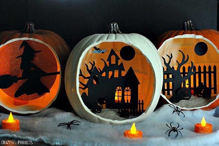Shadowbox pumpkins