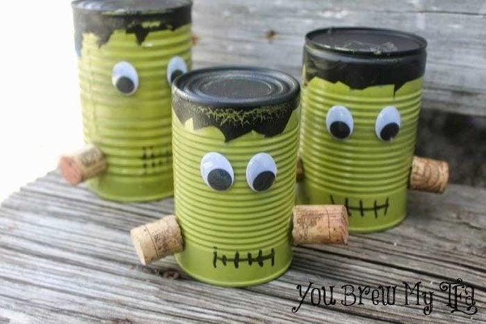 Frankenstein tin cans