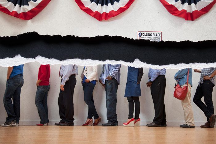 Rip tearing through a crowd of voters