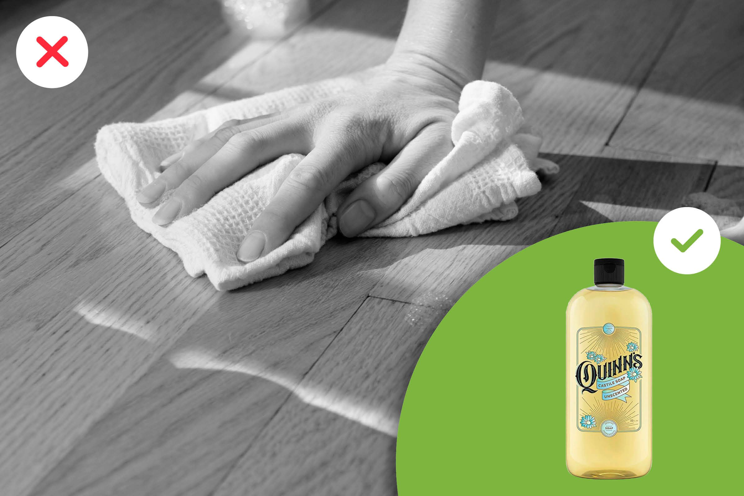 Cleaning a wooden floor