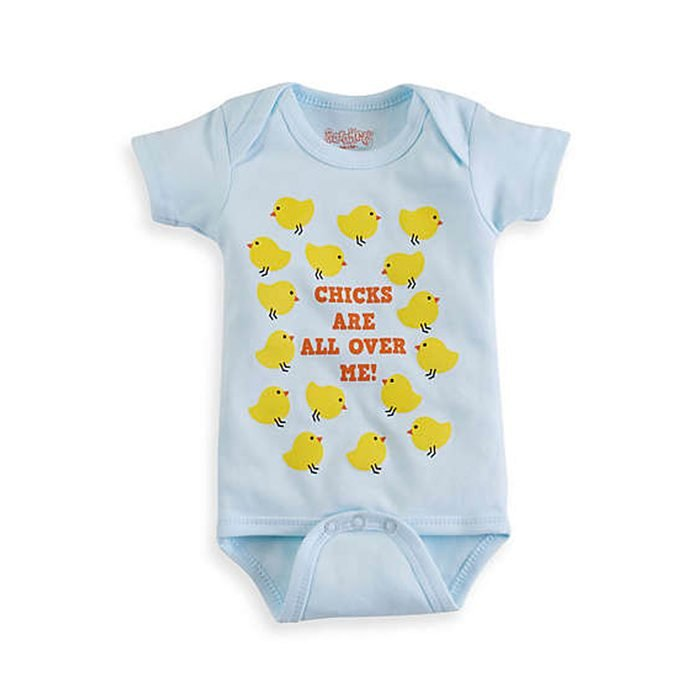 """""""chicks Are All Over Me"""" Onesie"""