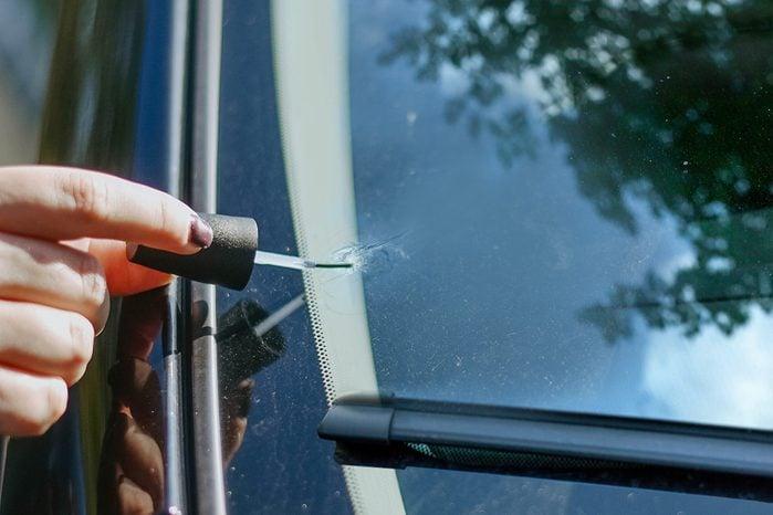 car window crack nail polish