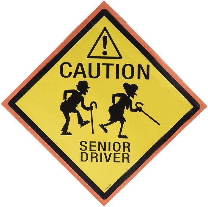 Caution Senior Driver Car Magnet