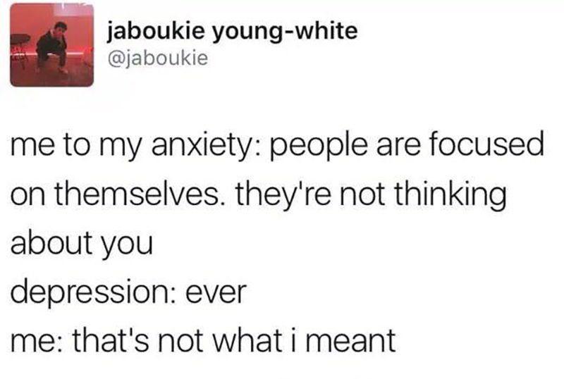 anxiety tweet meme
