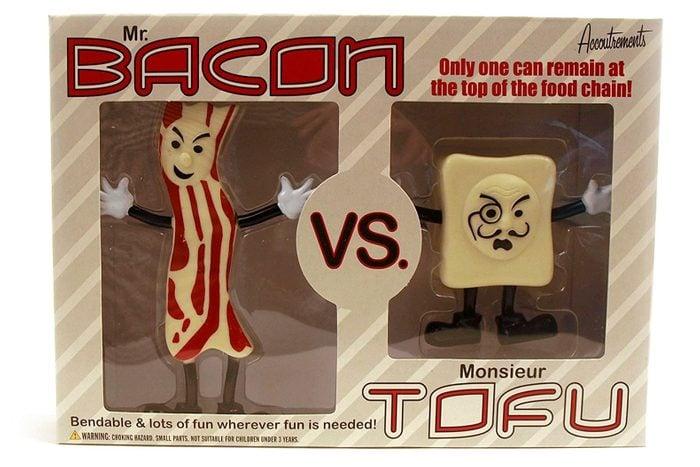 Accoutrements Mr.bacon Vs. Monsieur Tofu Action Figures