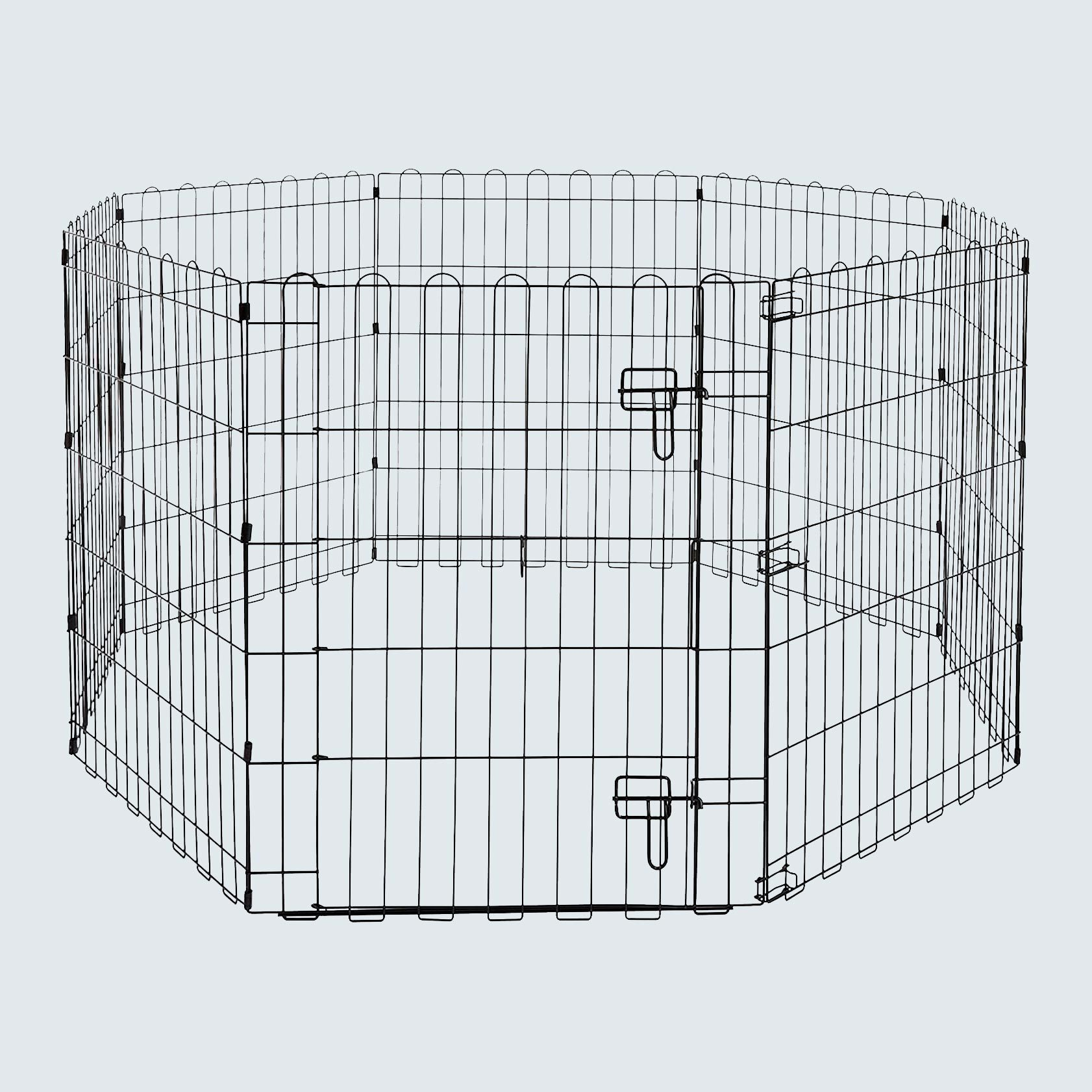 AmazonBasics Foldable Metal Pet Exercise Playpen