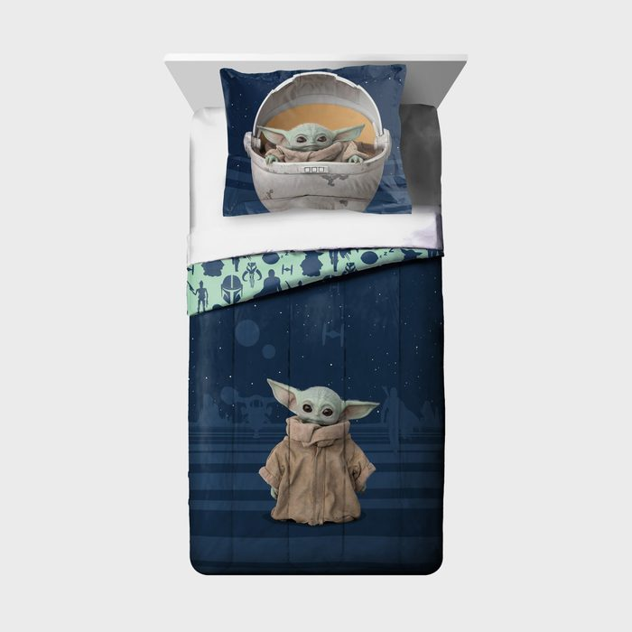Baby Yoda Two Piece Comforter And Sham Set