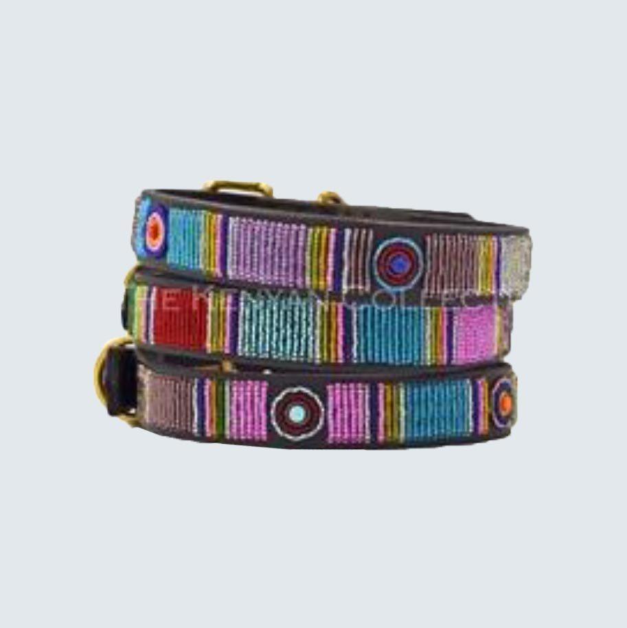 Kenyan Collection Bijou Beaded Dog Collar