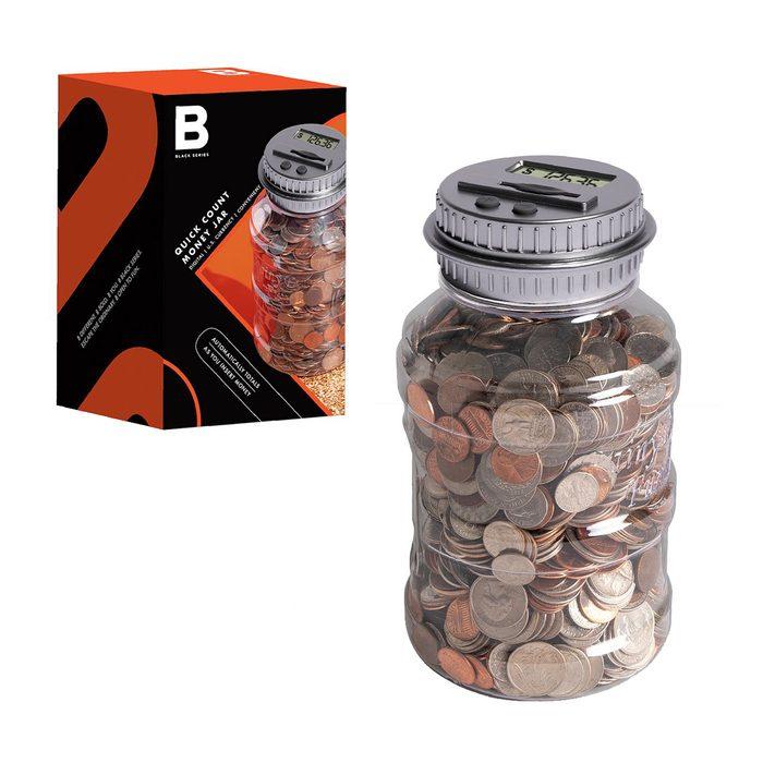 Black Series Digital Coin Counting Jar
