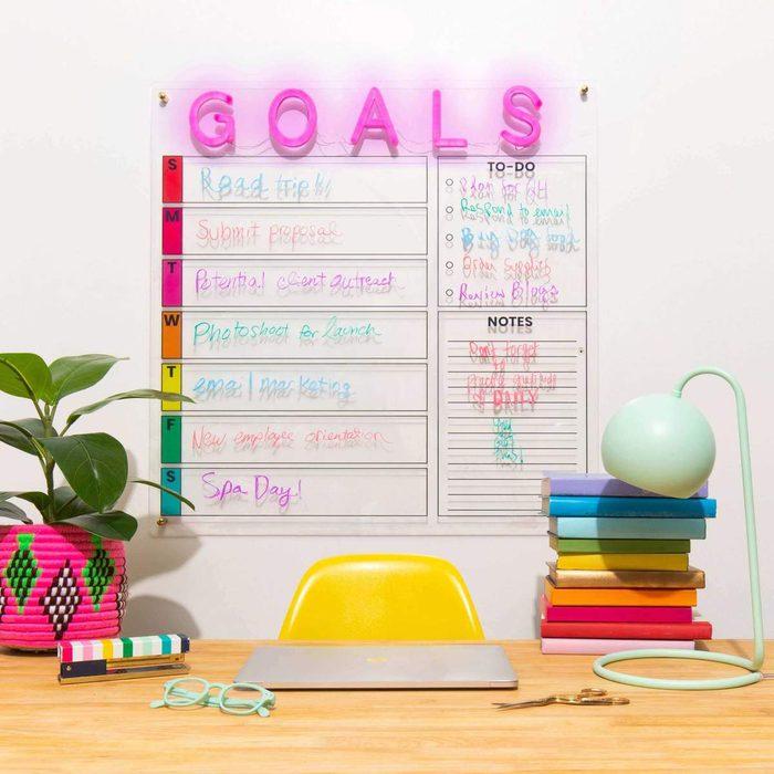 Brite Lite Neon Goals Calendar